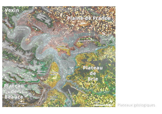 Carte des plateaux géologiques © fair