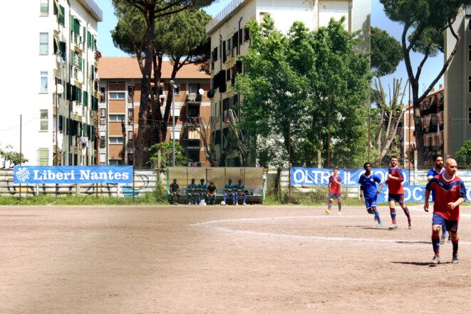 Match entre les équipes Liberi Nantes FC et Nuova Castelchiodato © Lea Lavigne