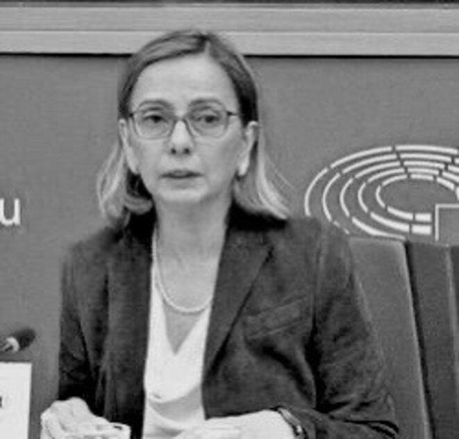 Yasmine Motarjemi au Parlement européen le 16 avril 2019 © DR