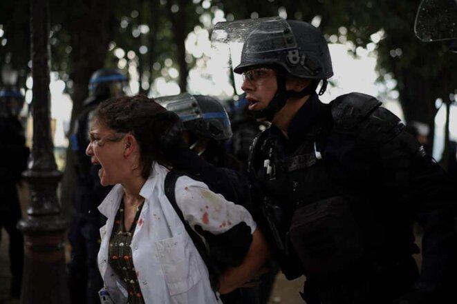 Arrestation de Farida, Paris, le 16 juin 2020