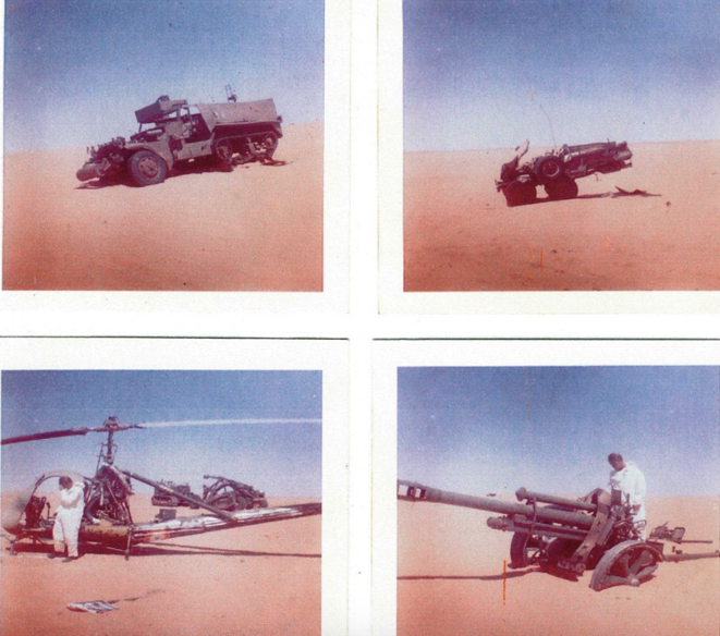 Vehículos militares abandonados en el emplazamiento nuclear de Hammoudia. © Informe Collin/Bouveret