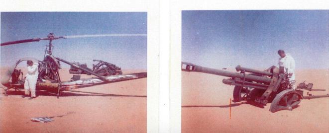 Véhicules militaires abandonnés sur le site nucléaire de Hammoudia, en Algérie. © rapport Collin/Bouveret)