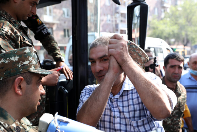 En Arménie, le 28 septembre. © Stepan Poghosyan / PHOTOLURE / AFP