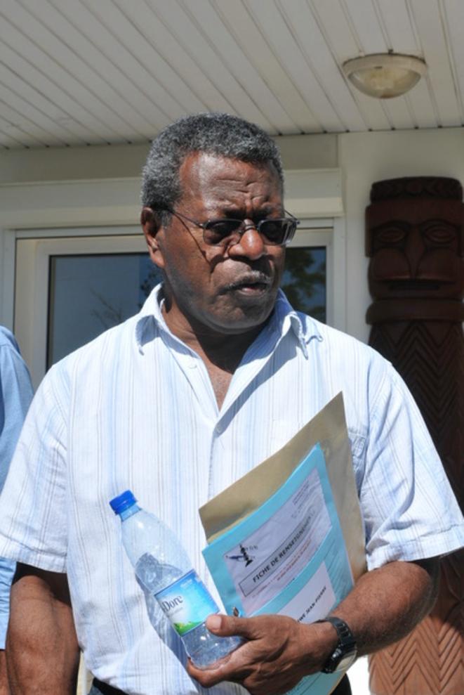 New Caledonia pro-independence leader Jean-Pierre Djaïwé. © Le Pays