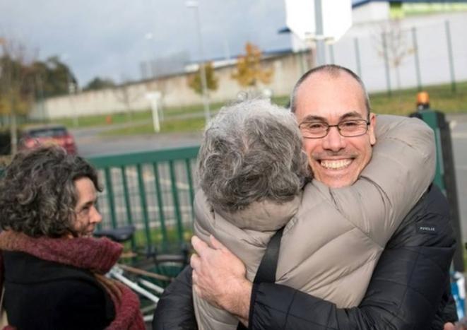 Vincenzo Vecchi en novembre 2019, après sa libération par la cour d'appel de Rennes. © AFP