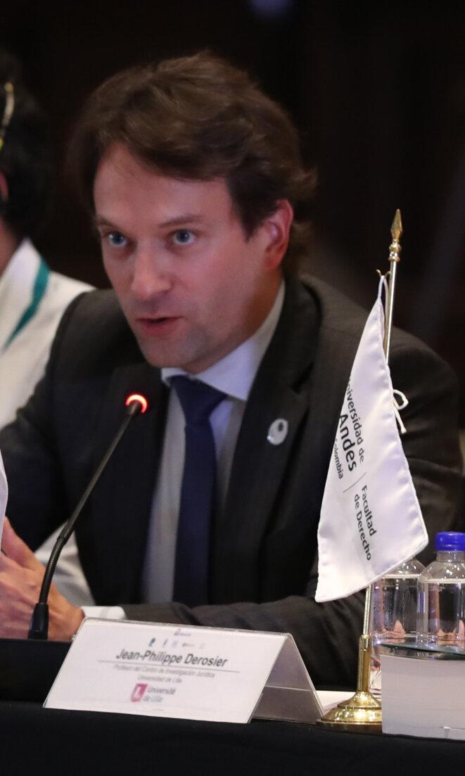 Jean-Philippe Derosier intervenant au Réseau mondial de justice électorale (2019). © «Richardcœurdelion2202»/Wikimedia Commons, lic. CC-BY-SA int. 4.0.