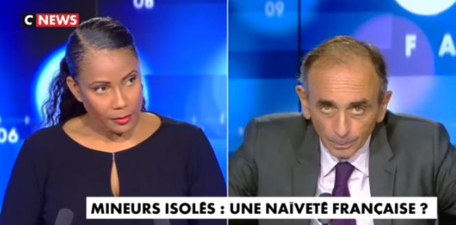 Capture d'écran CNews.
