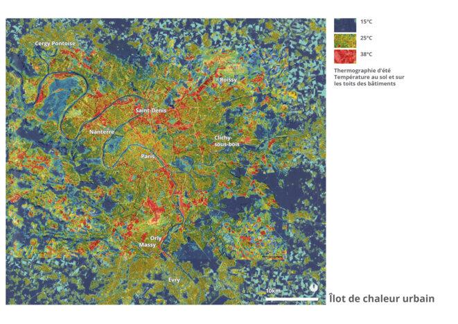 Ilot de chaleur - Grand Paris © fair