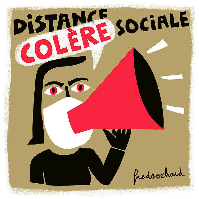 Distance ou colère sociale © Fred Sochard