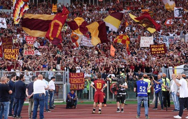 Totti lors de son dernier match sous les couleurs de l'AS Roma, son club de toujours | © AFP