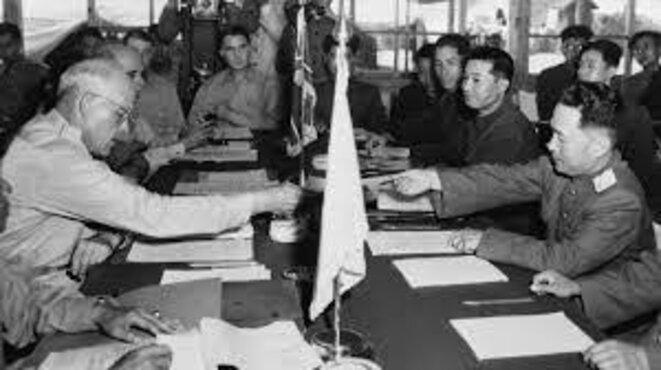 Signature de l'armistice le 27 juillet 1953