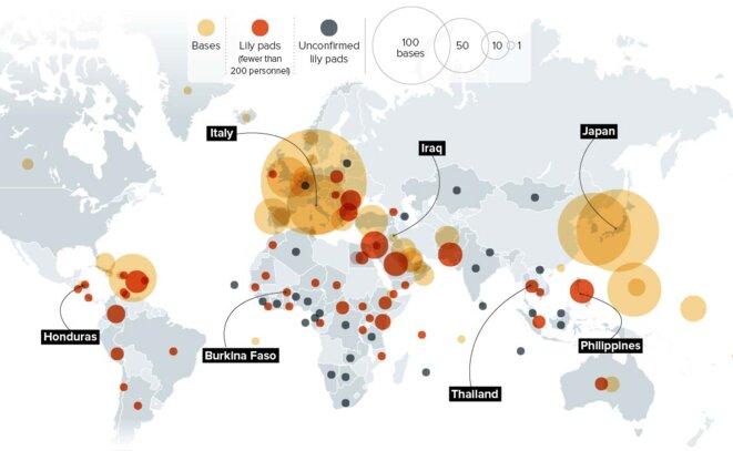Bases étatsuniennes dans le monde