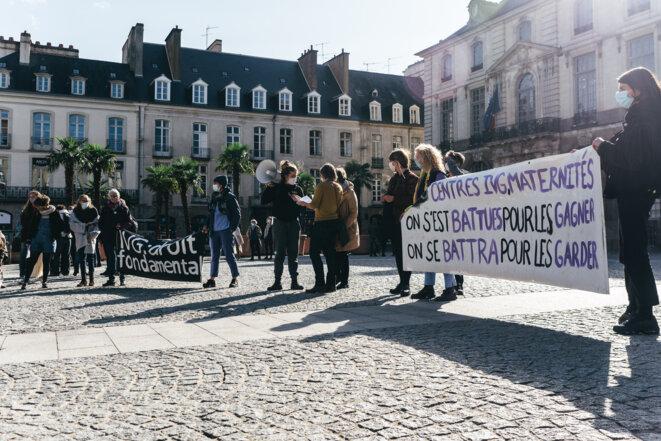 Manifestation à Rennes pour le droit à l'avortement le 26 septembre 2020 © Vernault Quentin / NurPhoto via AFP
