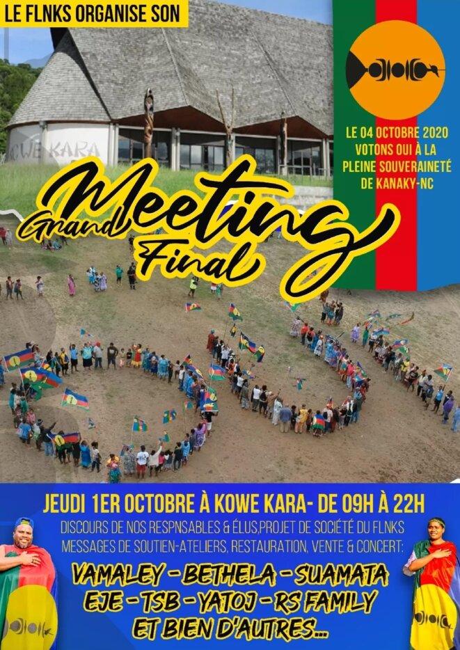 Grand meeting final de la campagne du oui à Kowe Kara à Nouméa