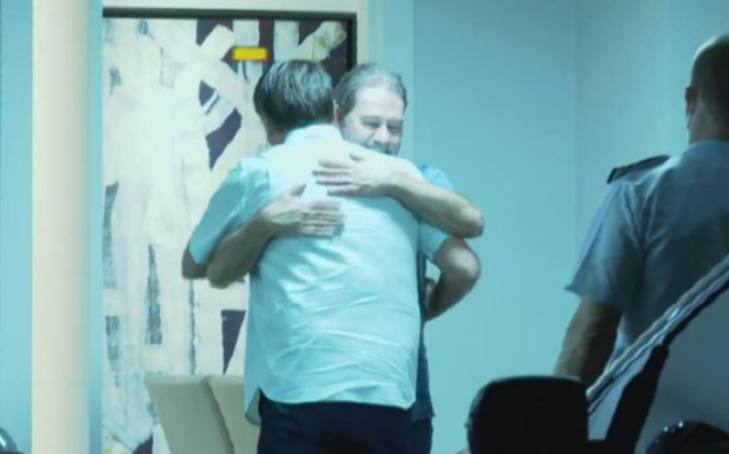 Dias Toffoli, chez lui, le 3 octobre au soir, avec Jair Bolsonaro © CNN Brasil