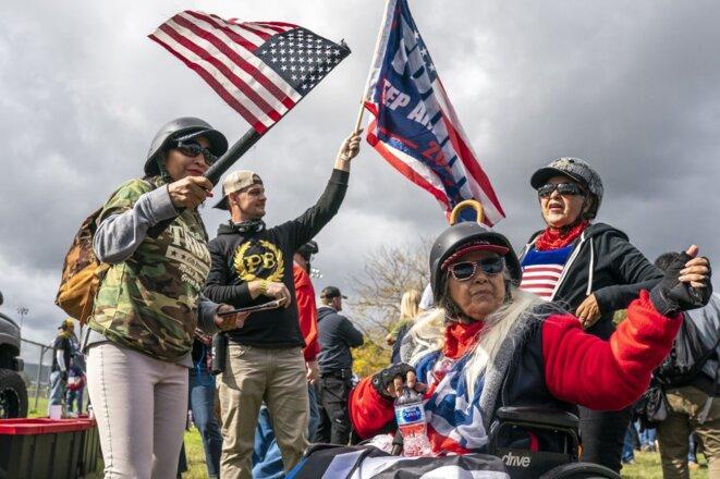 Un rassemblement des Proud Boys le 26 septembre 2020 à Portland, Oregon. © Nathan Howard/Getty Images/AFP