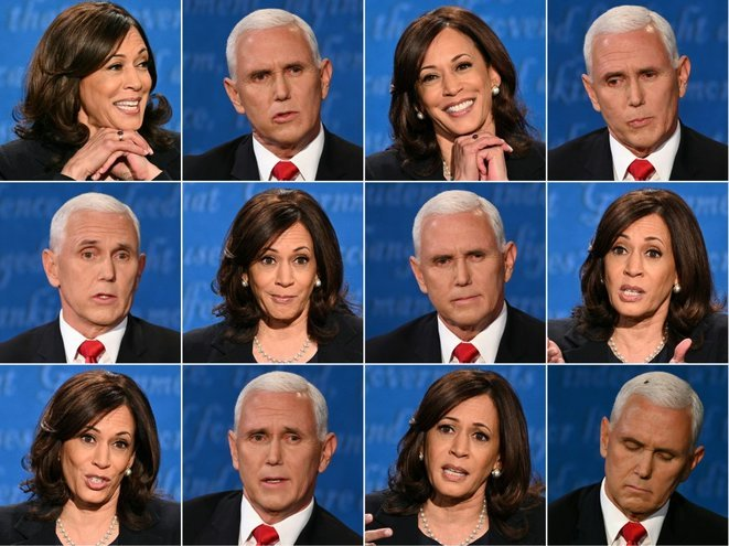 Diferentes expresiones de los dos invitados del miércoles por la noche. © Robyn Beck-Eric Baradat/AFP