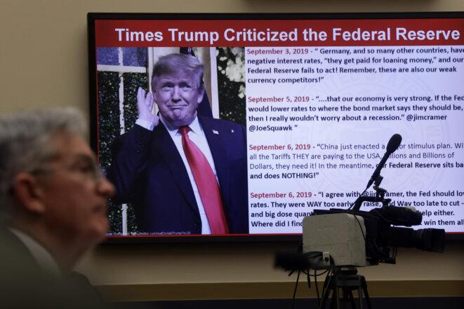 Jerome Powell lors d'une audition au Congrès en février 2020 © ALEX WONG /  Getty Images via AFP