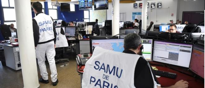 Salle de régulation, Samu, Paris. © AFP