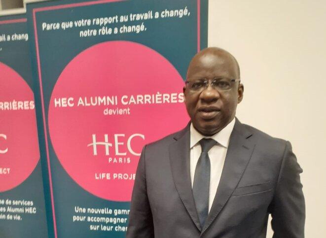 Mbagnick Diop sur le campus de HEC lors de sa conférence du 5 octobre.