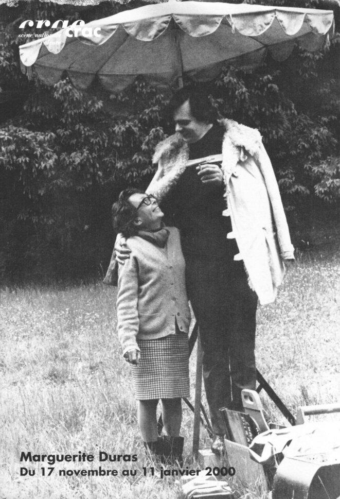 Michael LONSDALE et Marguerite DURAS, photo: Jean MASCOLO, collection particulière, tous droits réservés
