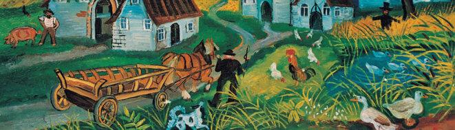 Antonio Ligabue, Paesaggio con animali