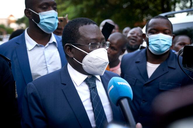 Soumaïla Cissé, le 8 octobre, après sa libération. © AFP