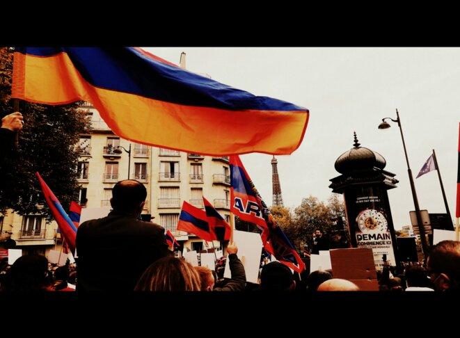 Manifestation pour la paix au Karabakh - Jeudi 08 octobre 2020 © Guillaume De Chazournes