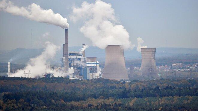 Centrale thermique au charbon de Saint-Avold © AFP