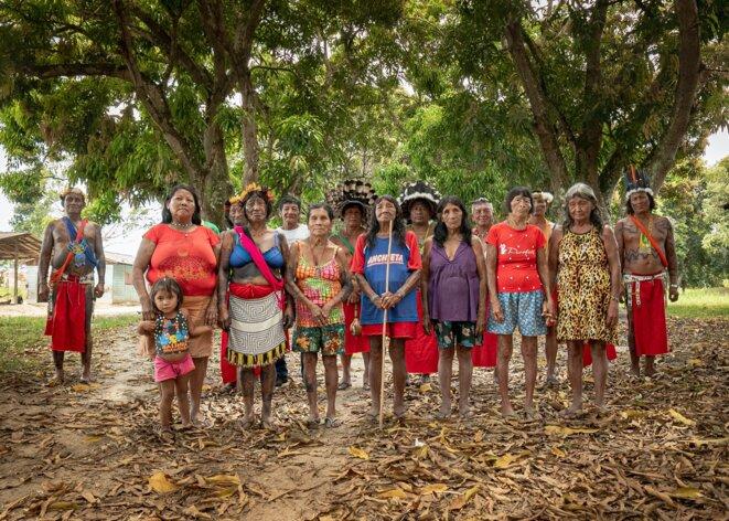 Chefs indigènes Tumucumaque, à la frontière du Brésil et du Suriname. © Frederico Mauro/The Intercept Brasil