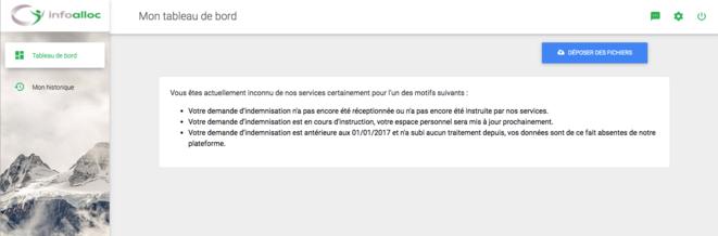 Capture d'écran site InfoAlloc n° 1