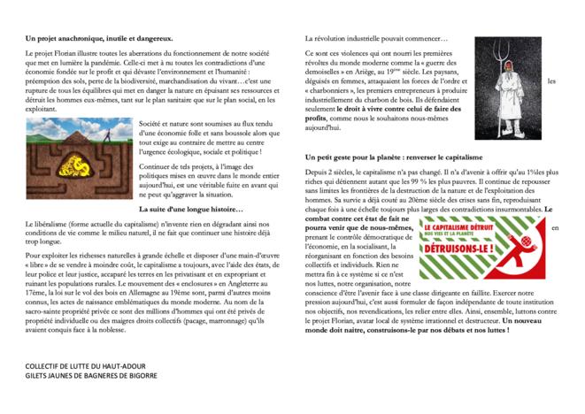 Un projet anachronique | Collectif de Lutte du Haut-Adour & Gilets Jaunes de Bagnères-de-Bigorre © CLHA & GJ de B2B