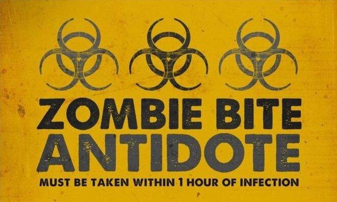 """""""Antidote contre les morsures de zombies""""."""