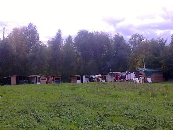 Le campement menacé d'expulsion. © J. Guien
