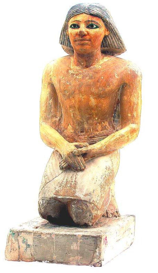 kaemked-scribe-boulaq-saqqara-ve-dynastie