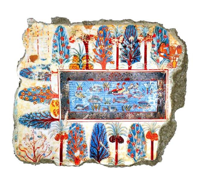 nebamon-tombe-fresque-jardin-bassin-thebes