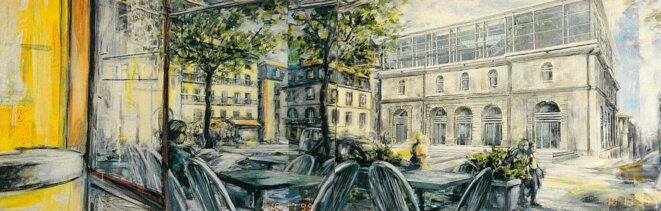 Les Beaux-arts rêvés depuis l'estaminet d'en face… © Jean-Paul Raclin pour Sycomore architectes
