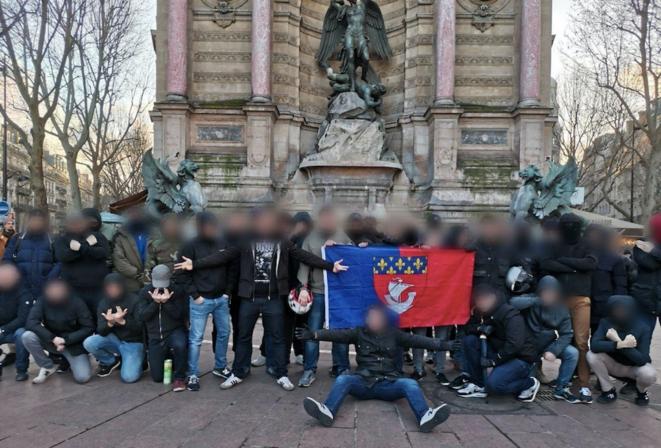 Le groupe Zouaves Paris, en janvier 2020.
