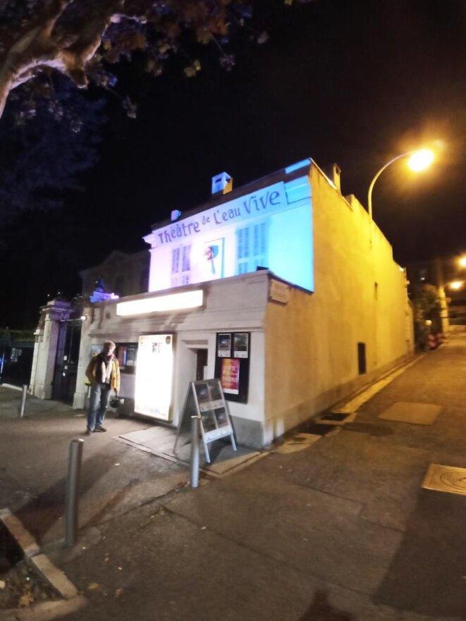 Le théâtre de l'Eau Vive, petite salle pour grands spectacles à Nice. 10 Bd Carabacel. © D. CODANI