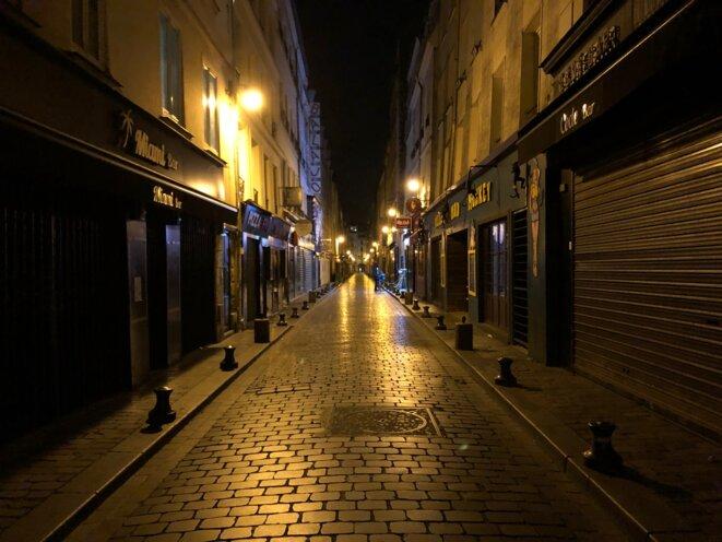 La rue de Lappe aux bars fermés © CP / Mediapart