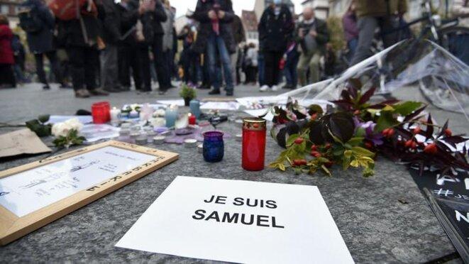 «Voilà maintenant près de vingt ans, l' «omerta» dont Samuel Paty a été l'effroyable victime commençait à s'imposer» © FREDERICK FLORIN/AFP