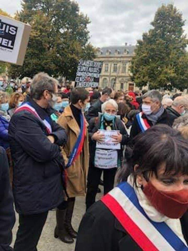 Hommage à Samuel Paty Grenoble Prefecture 18-10-20 © Myriam Laïdouni-Denis