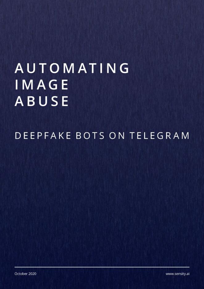 La couverture du rapport Automating image abuse par Sensity.ai