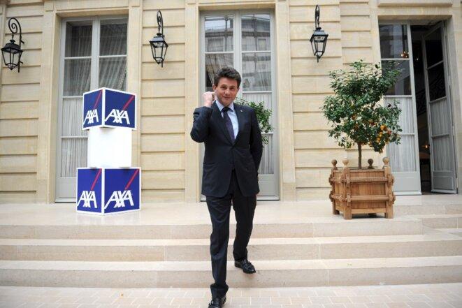 Henri de Castries, patron d'Axa de 2000 à 2016, au siège parisien du groupe en 2009. © Lionel Bonaventure / AFP