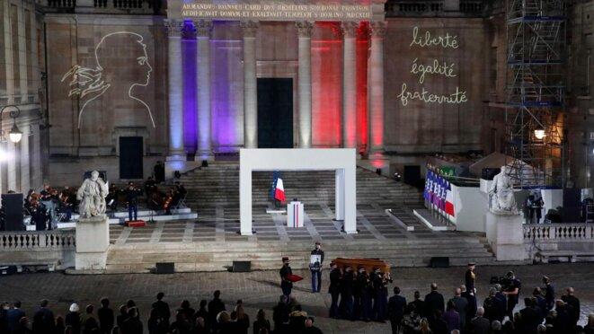 L'homme national à La Sorbonne, à Paris, mercredi 21 octobre. © AFP