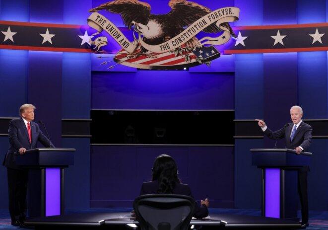 Le débat Trump/Biden le 22 octobre à l'Université Belmont à Nashville. © Chip Somodevilla /POOL/AFP