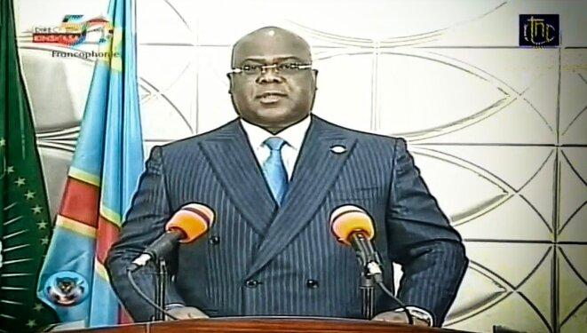Félix Tshisekedi à la RTNC le 23 octobre 2020