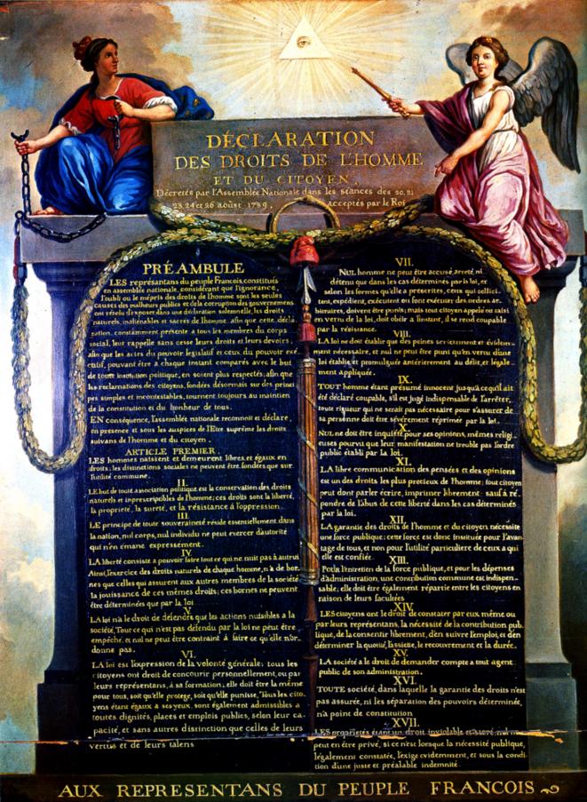 Tableau de Jean-Jacques Le Barbier, vers 1789.
