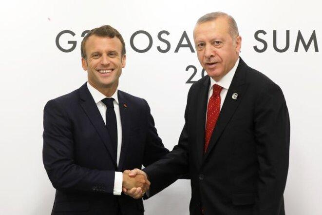 Erdogan et Macron © Claude Carrère