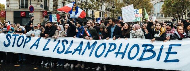 Marche contre l'islamophobie le 10 novembre 2019. © AFP